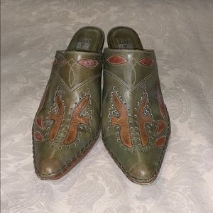 Frye leather boot mules size 10 M